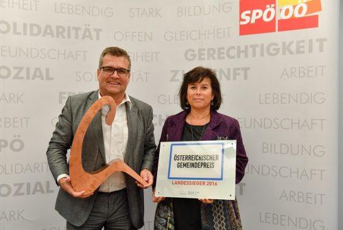 AUT, PK, Marchtrenk gewinnt Gemeindepreis 2016